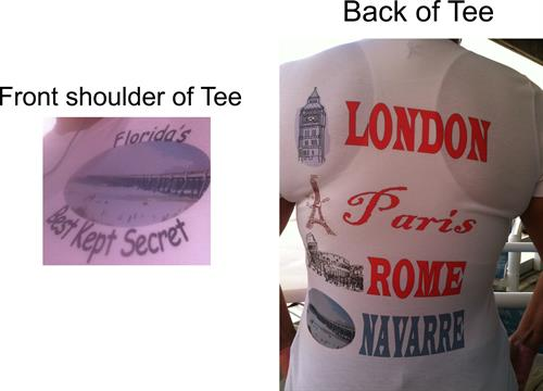 London,Paris,Rome,Navarre tee!