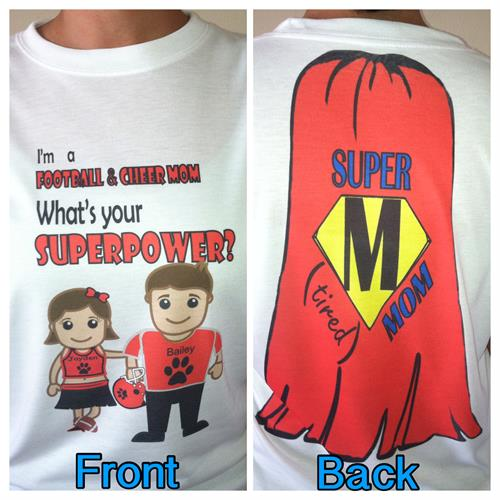 "Personalized ""Supermom"" tee"