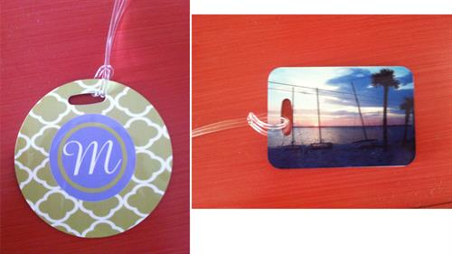 2 sided personalized bag tags