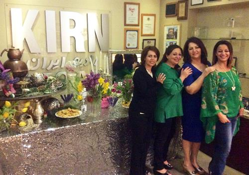 Happy Nowruz from 670am KIRN! (from left to right: Fariba, Sima Faheri, Zohreh Lalehzary, & Sahel Alemansour)