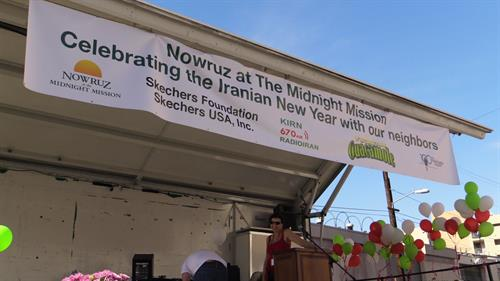 Every year the Iranian Community celebrates Nowruz by sharing culture and serving meals to the homeless at The Midnight Mission in Downtown Los Angeles.