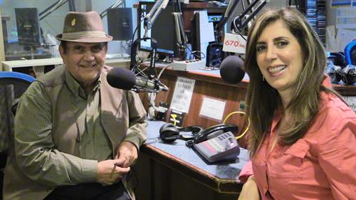 KIRN's Good Morning Los Angeles hosts: Sasan Kamali and Lida Hanaie