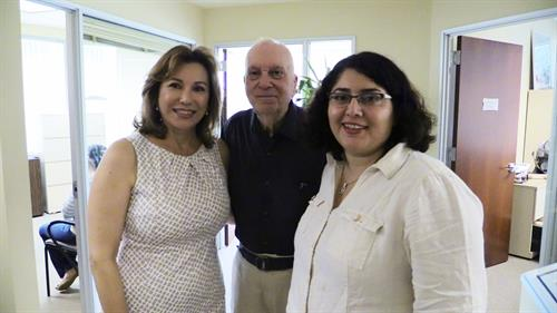 This past August 2014, KIRN Los Angeles celebrated it's 15th year Anniversary. In photo: Tamila Rokhideh, Howard Kalmenson, & Poopak Mozaffari