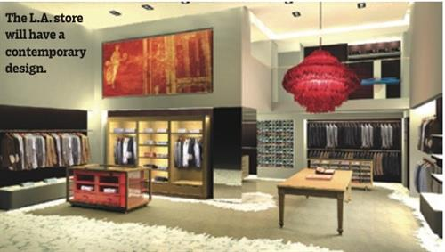 ISAIA Beverly Hills rendering