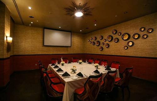 Private Dining Room- Great for intimate gatherings, business meetings, family dinners, holiday parties, and more!