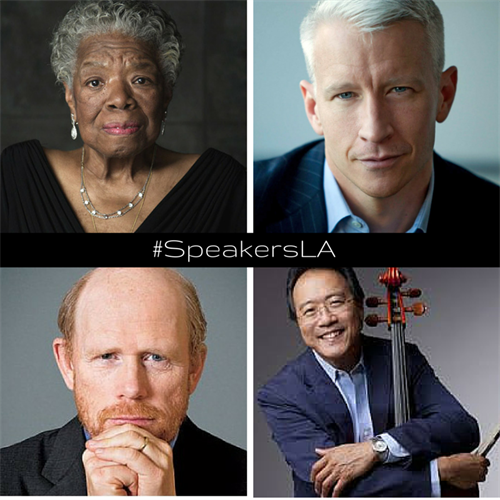 Previous Distinguished Speakers - Maya Angelou, Anderson Cooper, Ron Howard, Yo Yo Ma