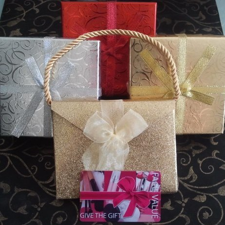 Gift Cards for any amount presented in a beautiful box!
