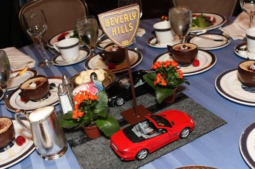 Corporate Event: Mercedes-Benz of Beverly Hills centerpiece created by Randy