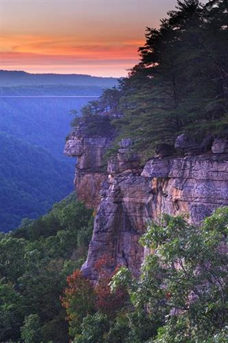 Sunset in the New River Gorge