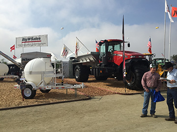 Our lot at the 2014 World Ag Expo
