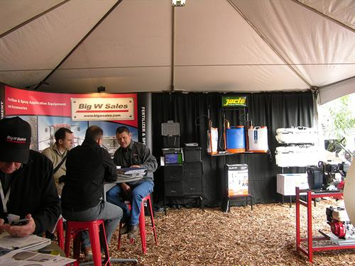Inside the tent - World Ag Expo 2014