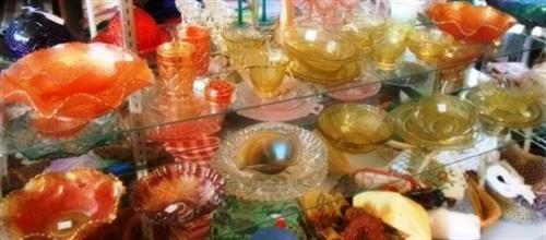 Carnival and Depression & etc glassware