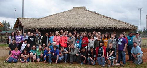 Local 8th grade students visiting Catawba Meadows