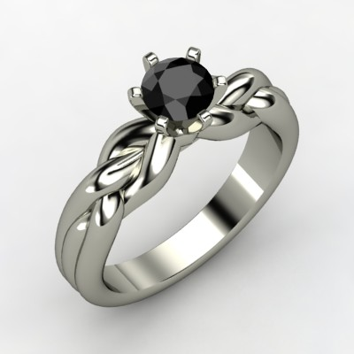 Black Diamond Braid Ring