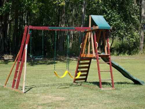 Swing set near the motels.