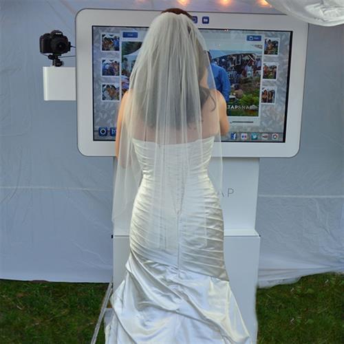 Bride using Kiosk