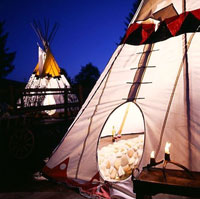 Intimate Teepee Covered Private Pools