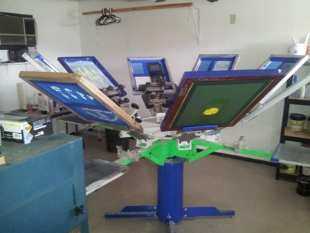 Our Screen printing carousel