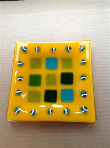 Studio Member's fused glass piece