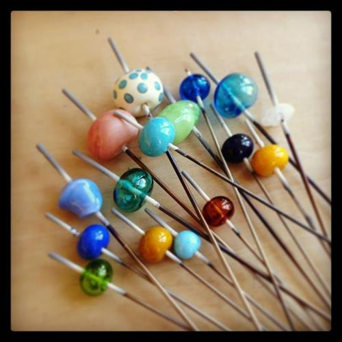 Flameworking Glass Beads by Students