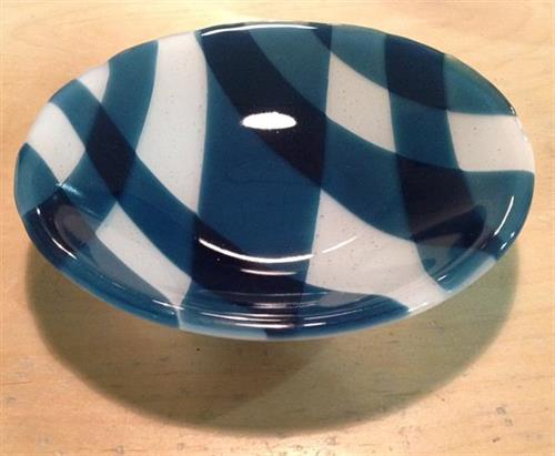 Fused Glass Bowl made by Intro. to Fused glass Student