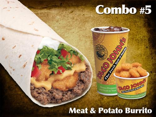 Meat and Potato Burrito Combo