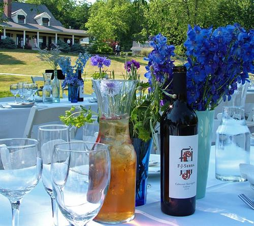 Tuscan-Themed Wedding Reception on the Lawn of The Inn