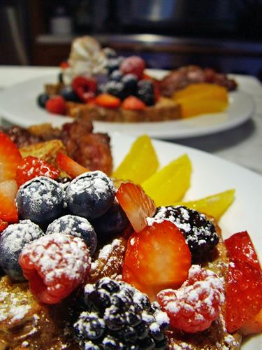 Breakfast - Panini Pumpkin French Toast with Seasonal, Fresh Berries