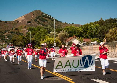 AAUW-MH marching in the annual 4th of July Parade