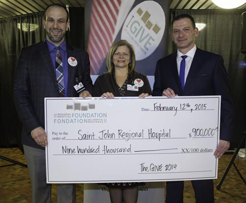 Radiothon raised $179,980. This success allowed the Foundation to close The Give campaign and present The SJ Regional Hospital with a cheque for $900,000 – the fundraising goal for the Give campaign.