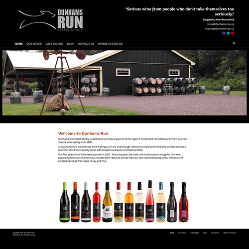 Dunhams Run Estate Winery Website