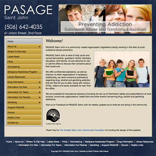 PASAGE Saint John Website