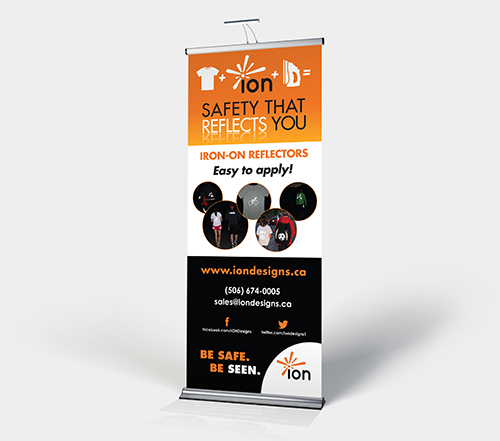 Pull-up Tradeshow banner for Ion Designs