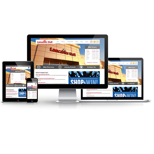 Responsive website redesign for Lancaster Mall