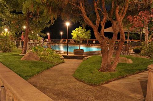 The Lodge at Riverside Pool at Night