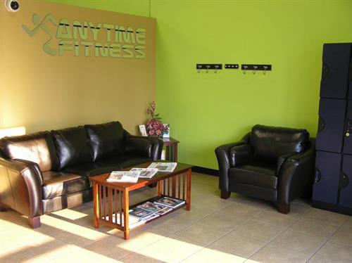 members lounge area