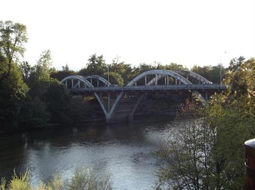 A view of the Caveman Bridge right from our patio