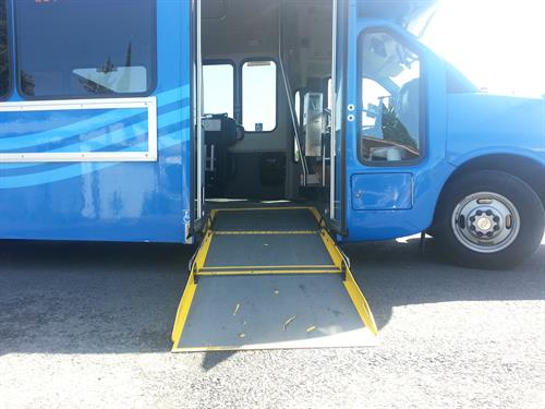 All vehicles are accessible for any mobility device