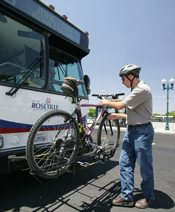 All our buses have bike racks as well