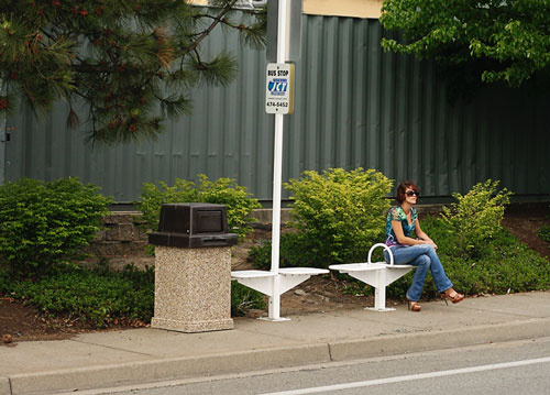 Many of our stops have benches will waiting for the bus