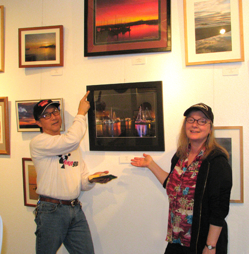 Mike & Deb Wong with their photos, Members Show.