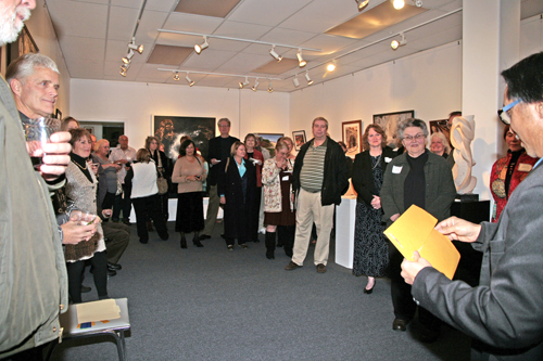 Juried Show awards announcement.
