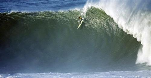Mavericks waves during surf contest