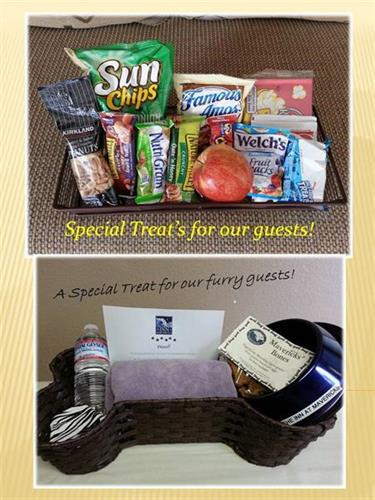 Welcome Baskets for Guests and Pets