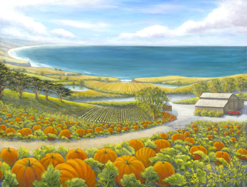 """Pumpkins by the Sea"" by Ellen Joseph"