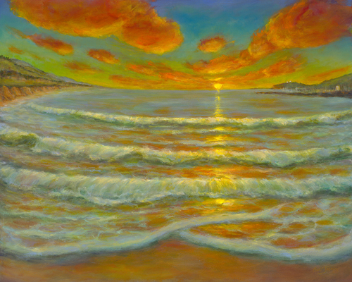"""Half Moon Bay Sunset"" by Ellen Joseph"