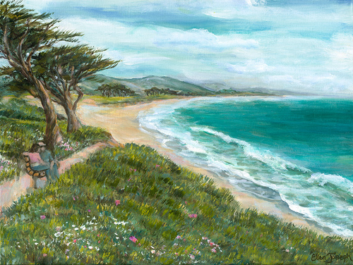 """Miramar Beach Walk"" by Ellen Joseph"