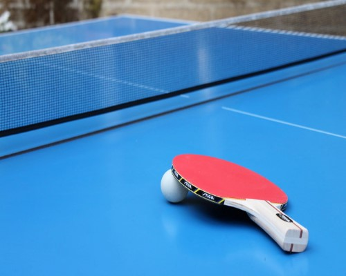 Ping pong in the backyard!