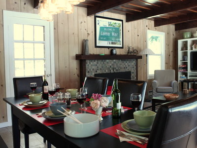 Enjoy a meal inside on those cool mountain days
