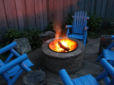Sit around the fire pit and roast a s'more